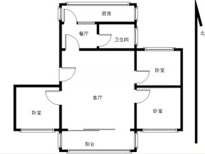 农牧公司宿舍 3室2厅 96.29㎡_深圳罗湖区银湖二手房图片