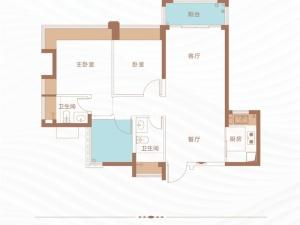 深圳丁山河畔新房楼盘户型图77