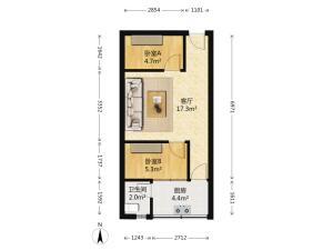 丽湖花园 2室1厅 41.82㎡ 精装深圳龙岗区布吉水径二手房图片